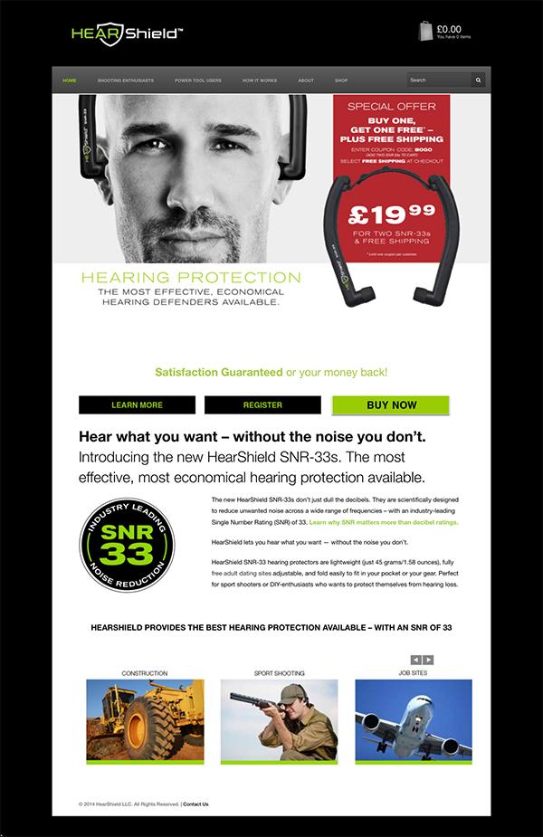HearShield Web Design