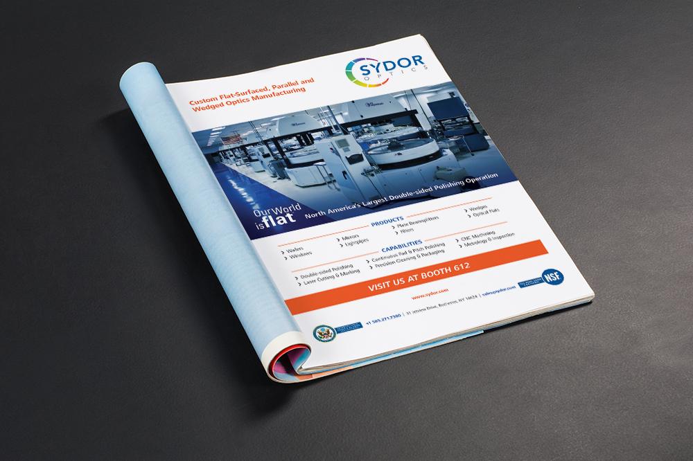 Sydor Optics Print Ad Graphic Design